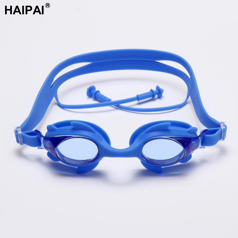 Haipai boys girls childrens glasses swimming glasses professional Waterproof Anti-UV anti-fog protective glasses for the pool
