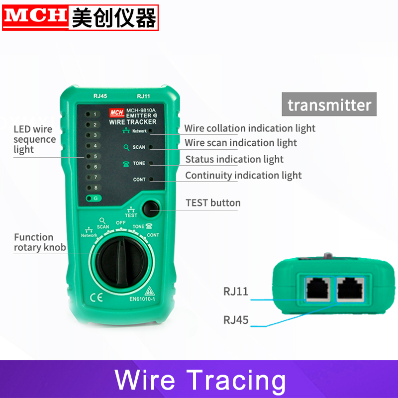 Image 2 - RJ45 Cable Tester Network Lan UTP Tracker Wire Scan Verify Test Telephone Line Finder RJ11 Cat5 Cat6 Wholesale Dropship-in Networking Tools from Computer & Office
