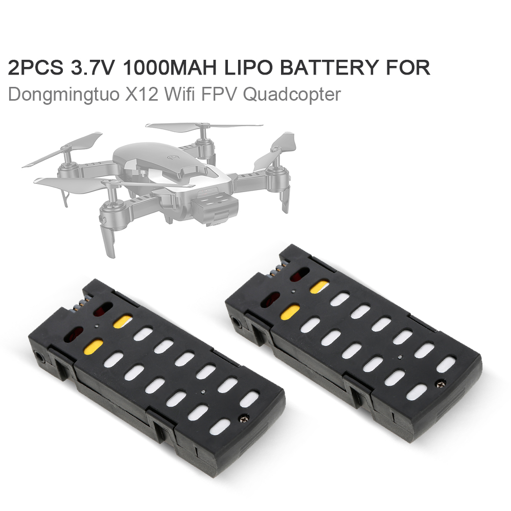 RC <font><b>Battery</b></font> <font><b>3.7V</b></font> <font><b>1000mAh</b></font> <font><b>Lipo</b></font> <font><b>Battery</b></font> for Dongmingtuo X12 Wifi FPV Drone Quadcopter image