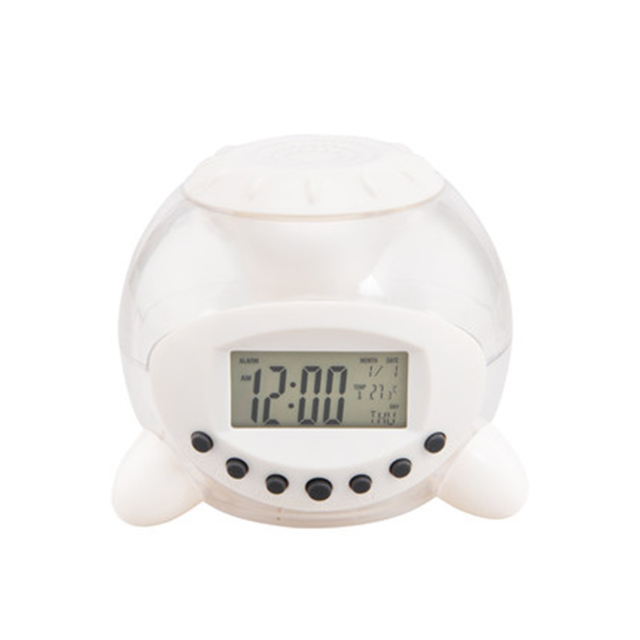 Kids Music Creative Clock Alarm Electronic Projector Table Clock Digital Led Bedside Desk Despertador Digital Alarm 50A0092