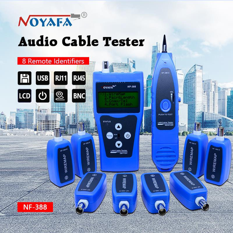 Top Quality Network cable tester Cable tracker RJ45 cable tester NF-388 English version Audio Cable Tester Blue color цена