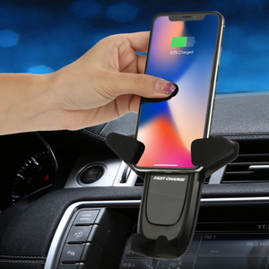 Image 3 - 車ワイヤレス電話の充電器 apple の iphone XS XR × 8 プラスサムスン注 9 S9 S10 自動車電話ホルダー高速チー車の自動充電器