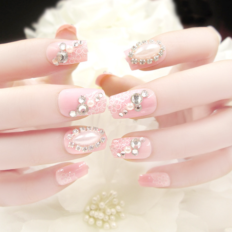 24pcs wedding pink diamonds decoration