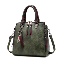 Retro PU leather ladies handbag Mommy Messenger bag designer shoulder Diaper