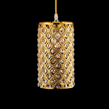 modern single LED gold crystal chandeliers lights modern crystal lamps aisle high power lights