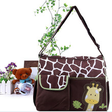 Shoulder Large Capacity Mummy Bag Diagonal Baby Diaper Nappy Changing Bag Giraffe Style Baby Travel Nappy Bag Diaper Backpack(China)