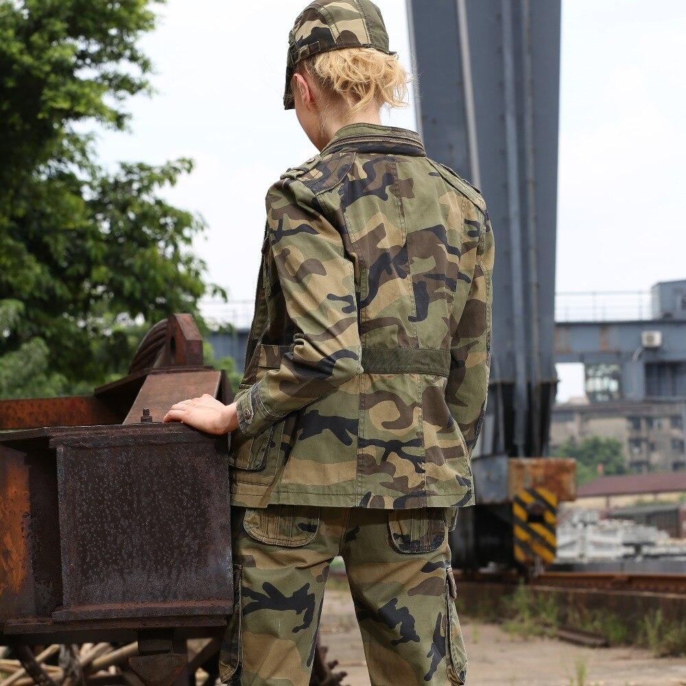 Nieuwe Mode Militaire Camouflage Womens Jacket Coat Herfst Stand Kraag Jassen Rits Slanke Merk Jas Vrouwen Gs 8253B-in Eenvoudige Jassen van Dames Kleding op  Groep 2