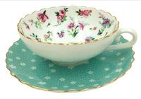 Coffee Tea Sets Cups Saucers 150 Ml Blue Flower Series China Porcelain Elegant Ladies Favorite Mother