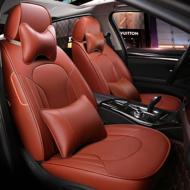 Custom Leather car seat covers For vw polo bmw e90 nissan lada granta haval h6 volvo v50 automobiles car accessories styling