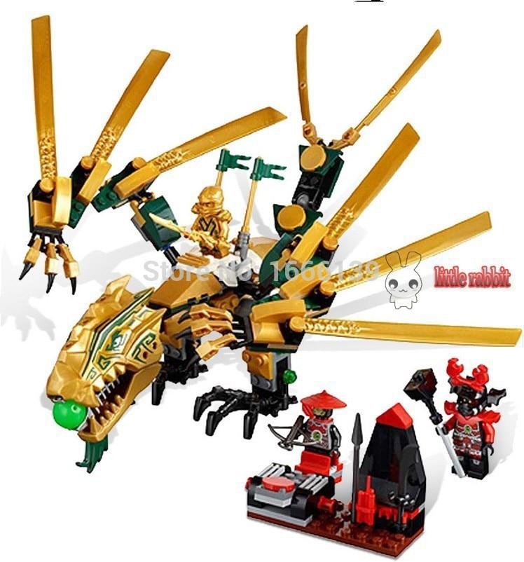 BELA 258pcs 9793 Phantom Ninja The Golden Dragon Lloyd Jay Cole Kai Minifigures Building Blocks Compatible With Lego L70503