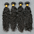 "8A Brazillian Water Wave Virgin Hair 4 Pcs/Lot Brazilian Curly Virgin Hair Human Hair Weave 8""-30"" Brazilian Hair Weave Bundles"