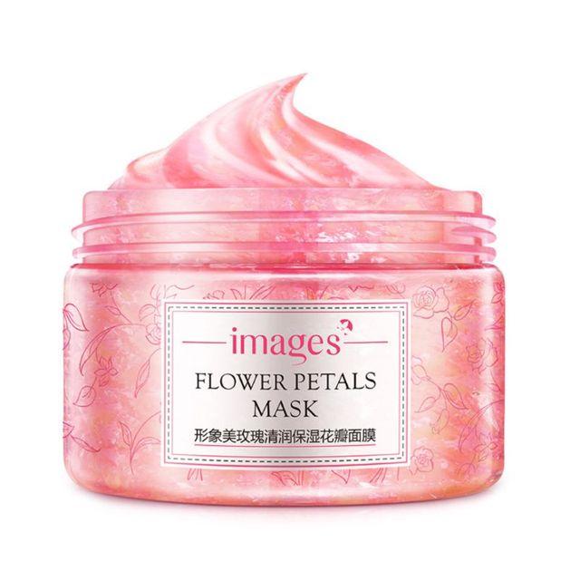 Máscara Facial pétalos de rosa Extracción de flores hidratante nutrir la humedad Anti arrugas Anti envejecimiento noche cuidado de la piel cosmético nuevo