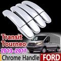 Хромированный набор для отделки крышки ручки для Ford Transit Tourneo 4 mk4 2013 2014 2015 2016 2017 2018 2019 автомобильные аксессуары наклейки