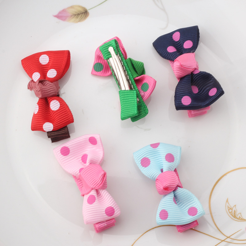 M MISM Children Lovely Bowknot Hair Clips High Quality Top Knot Hair Accessories Girls Hairgrips Delicate Hairpins Ornaments
