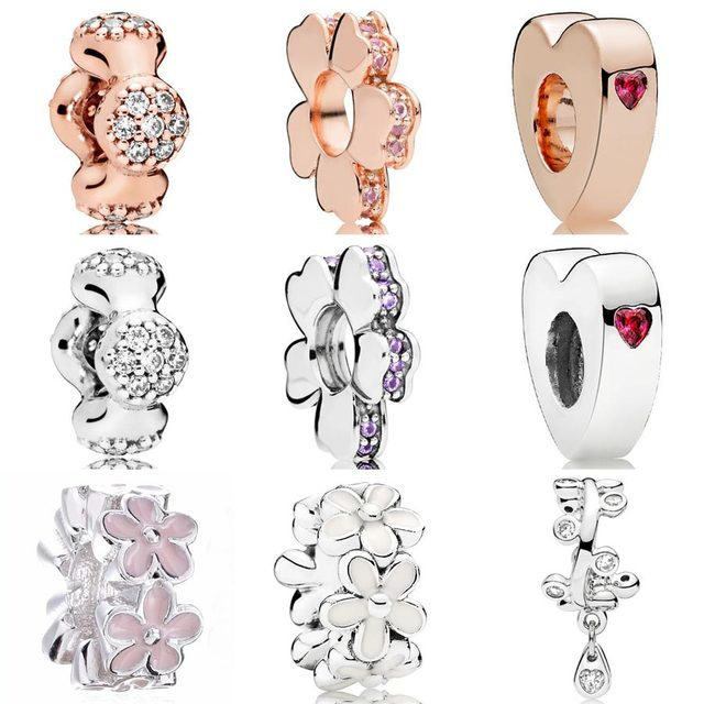 7382e261e Darling Daisies Rose Two Hearts Wildflower Meadow Modern LovePods Spacer  Beads Fit Pandora Bracelet 925 Sterling Silver Charm
