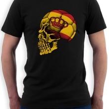 Fashion Men Fashion Classic Spain Flag  T-Shirt footballer n
