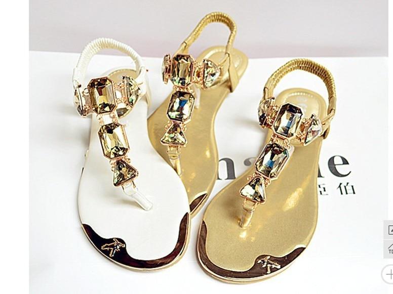 Gladiador Blanco Oro Sandalias Moda Flops Zapatos 2015 Zip Estilo Mujeres Del De blanco Planos 1 Las Verano Flip 938 Oro Z8UxOtwzqU