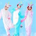 Nuevo unisex fleece animal pijama de una pieza de dibujos animados unicornio pegasus tenma cosplay traje adulto pijama pijama ropa de dormir con capucha