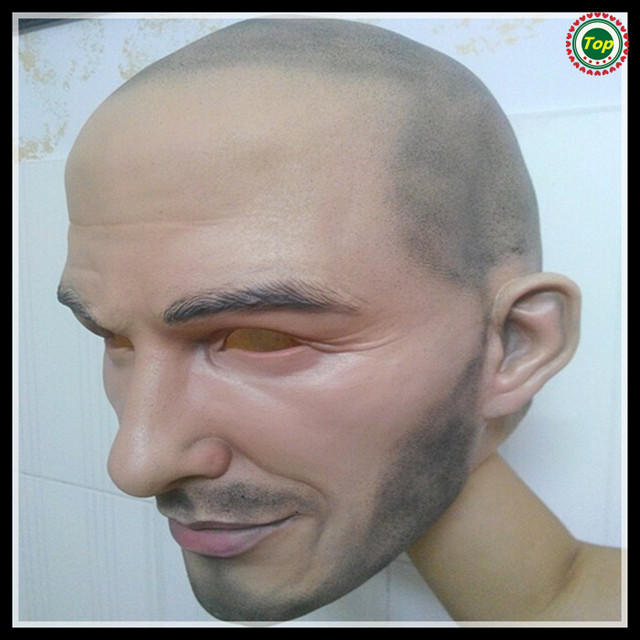 Halloween Party Cosplay Famous Man David Beckham Face Mask Latex Party Real Human Face Mask Cool realistic mask