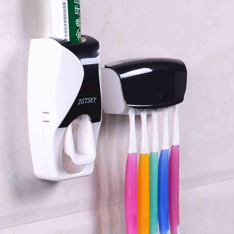 OneUp 2017, Новая мода Автоматический Зубные пасты устройства ремень Зубная щётка держатель соковыжималка Ванная комната комплект Аксессуары для ванной комнаты