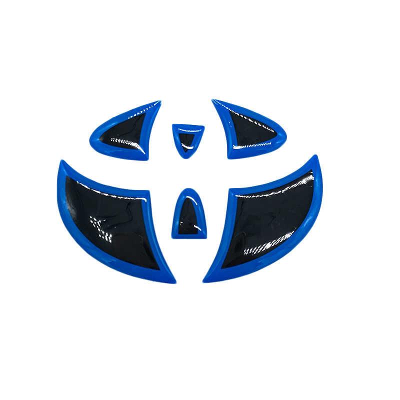 CARLOB Araba Sticker direksiyon Kuyruk Logosu Çıkartması Kapak Ön Arka Amblem Rozet Toyota Highlander Için RAV4 Camry Corolla Prius