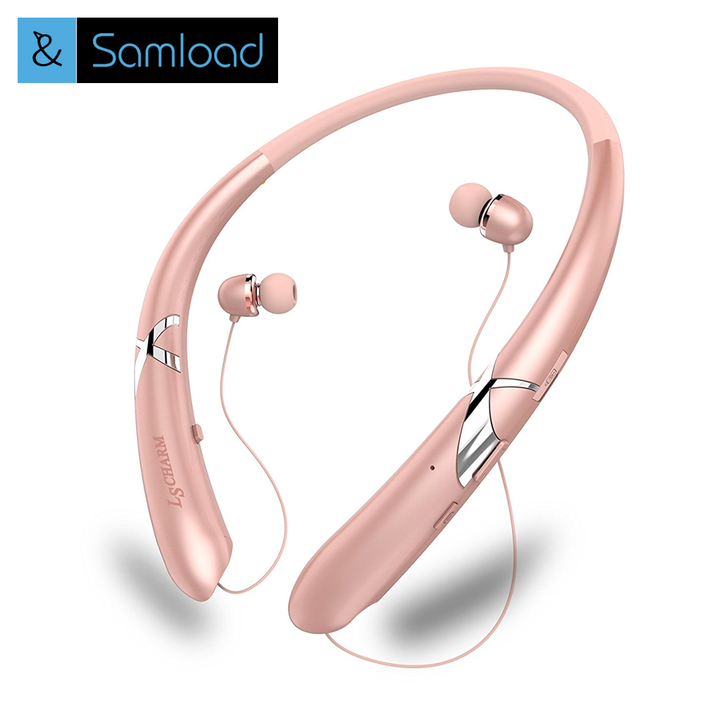 SAMLOAD HBS-900 Bluetooth Earphone Wireless Neckband Sport Stereo Bass Running Portable  Bluetooth Headphone Headset With Mic hbs 760 bluetooth 4 0 headset headphone wireless stereo hifi handsfree neckband sweatproof sport earphone earbuds for call music