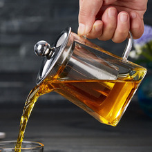 High borosilicate glass Teapot Teaware Fine mesh stainless steel Tea Infusers Blown