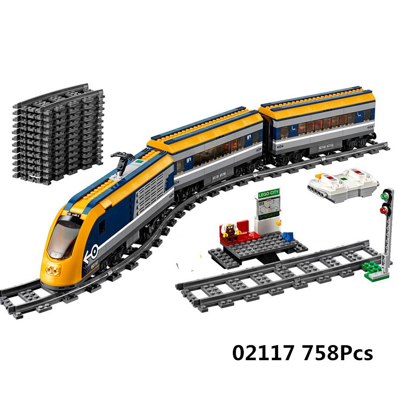 Lepin 02117 City Figures RC Passenger Train Set with Power Function Building Blocks Bricks Toys Compatible LegoINGLY 60197 витражи брелоки 3шт рыбка лебедь бабочка amos