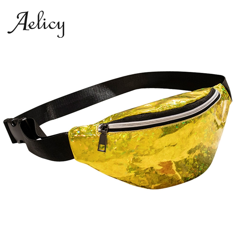 Aelicy Hip Hop Streetwear Waist Pack Laser Beach Bag Men Fanny Pack Belt Bag Women Travel Outdoor Running Bag Chest Bags(China)