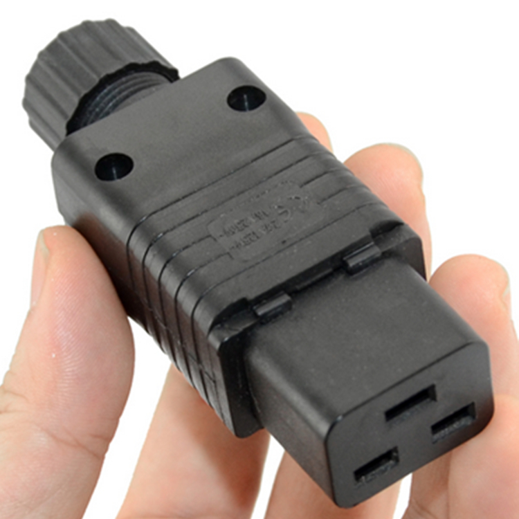 IEC 320 C19 16A Power Cord Connector,Black PDU IEC 320 C19 Rewirable Socket, 10 pcs/lot