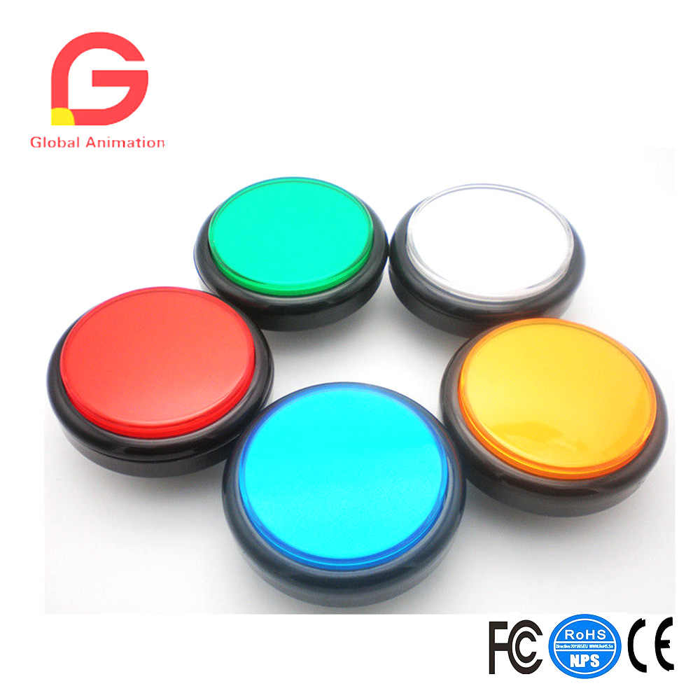 5 Colors 100mm Big Dome Convex Type LED Lit Illuminated Push Buttons For Arcade Machine Video Games Parts