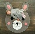 Вязание кролик детское одеяло муслина пеленать cute bear ползать коврик главная декоративные детские wrap игры новорожденных фотографии реквизит
