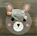 knitting muslin swaddle rabbit baby blanket cute bear crawling mat home decorative baby wrap game newborn photography props