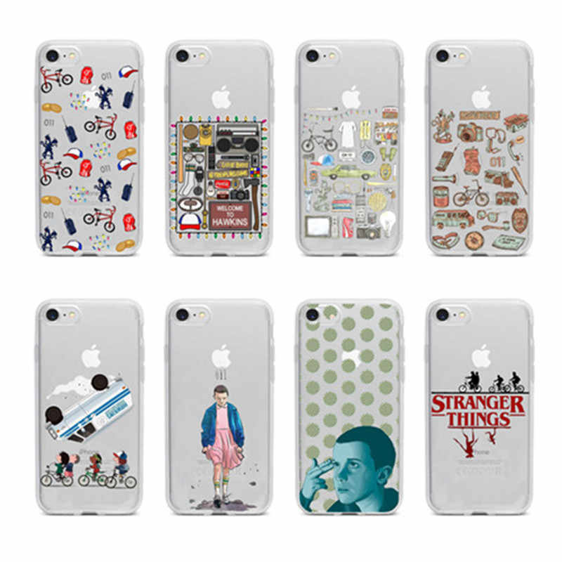 Stranger Things Christmas Lights Matte transparent case TPU soft silicone Phone Cases For iphone 11 11Pro 11ProMax X XR XS Max 8 7 6s Plus 5s SE