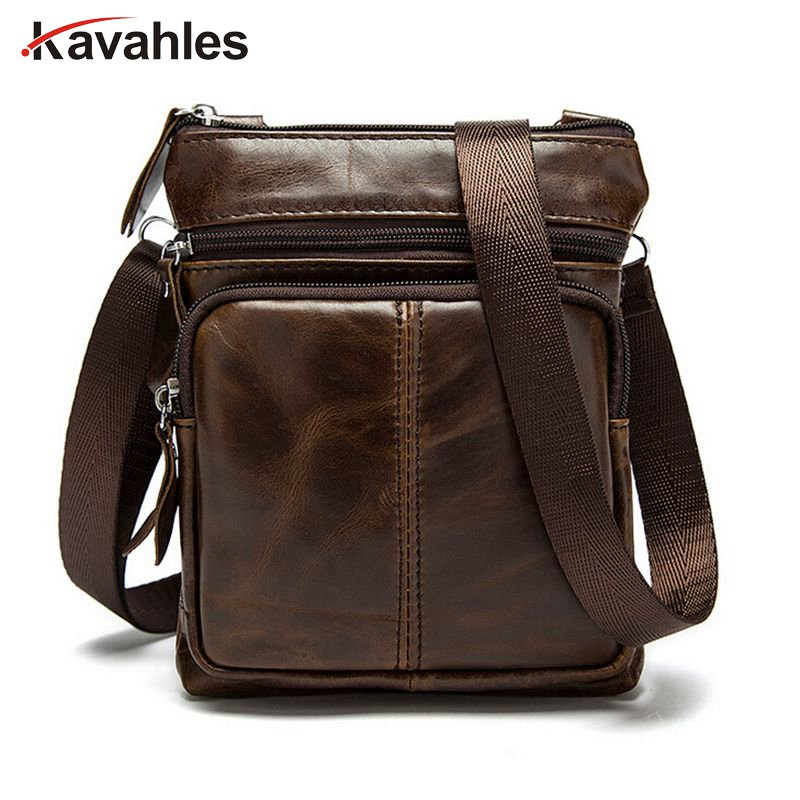 цена на Hot sale New fashion genuine leather men bags small shoulder bag men messenger bag crossbody leisure bag
