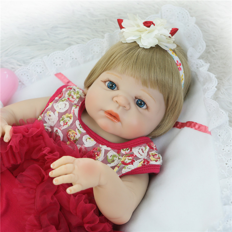 23 Full Silicone Reborn Girl Baby Doll Toy Lifelike babies toys infant dolls baby dolls play house bonecas pink lol princess23 Full Silicone Reborn Girl Baby Doll Toy Lifelike babies toys infant dolls baby dolls play house bonecas pink lol princess