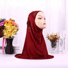 Muslim One-piece Instant Hijabs Sewing Embroidery Flower Pattern Diamond on Scarf for Women Hijab caps headscarf islamic Turban
