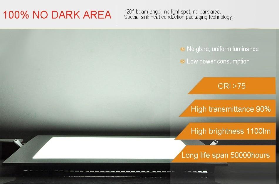 25W Square LED Panel Light Recessed Kitchen Bathroom Ceiling Lamp AC85-265V LED Downlight Warm WhiteCool White Free shipping (14)