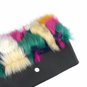 Image 5 - Tanqu 2018 새로운 혼합 된 색상 여성 가방 봉 제 트림 O 가방에 대 한 열 봉 제 장식 가짜 모피 클래식 큰 미니 obag에 적합