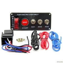 New Racing Car 12V Ignition Switch Panel Engine Start Push Button LED Toggle- G6KC все цены