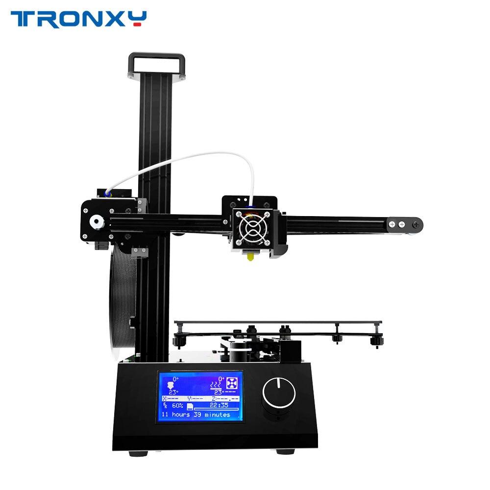 2018 Date Mise À Jour version Tronxy X2 3D imprimante avec LIT CHAUD grande taille d'impression 210*210*210mm tout En Aluminium livraison gratuite