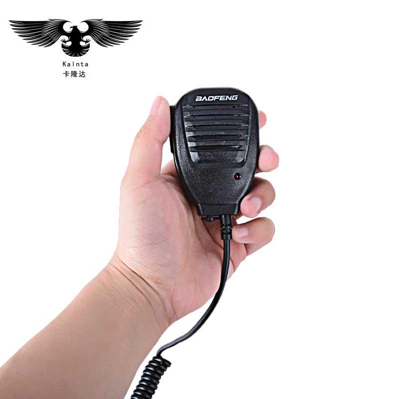 Baofeng walkie talkie walkie microphone combiné handphone radios haut-parleur interphone colonne pour 888 S UV-5R TELSIZ ZASTONE KSUN VER