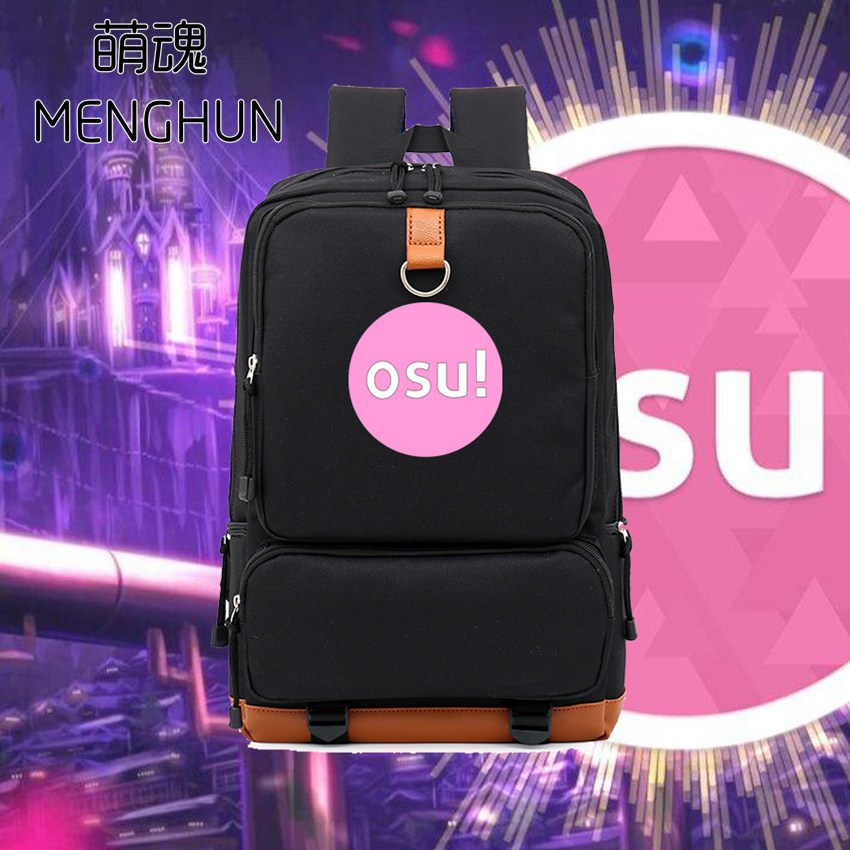 2018 new backpack Lovely music game Osu! concept big nylon backpack school bag for students game fans gift Osu backpacks nb214 hot pc game player unknown s battlegrounds backpacks school bags pubg backpack gift for boyfriend game fans daily use nb197