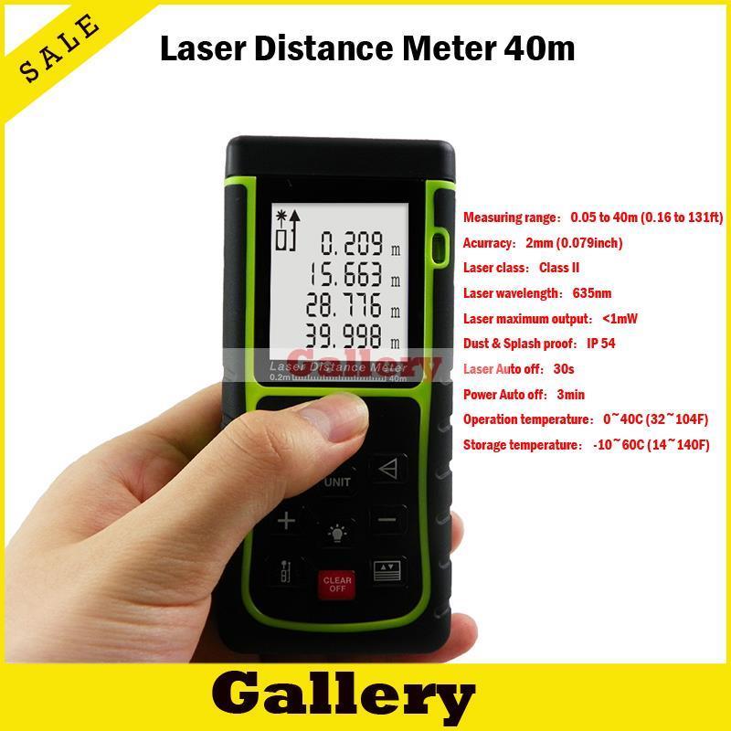 Distance Laser mesureur Laser télémètre ruban à mesurer 2015 offre spéciale réelle Trena numérique chasse télémètre 40 M Distance mètre