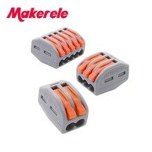 (60 PCS )Wago type PCT-212 213 215 20pcs 2P + 20pcs 3P + 20pcs 5P Universal Compact Wire Connector Conductor Terminal Block