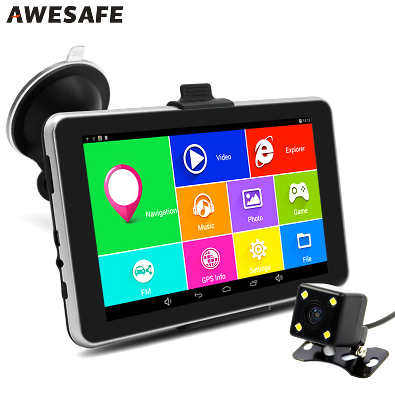 7 inch Car font b GPS b font Navigation Android Rear view Recorder Camera Bluetooth AVIN