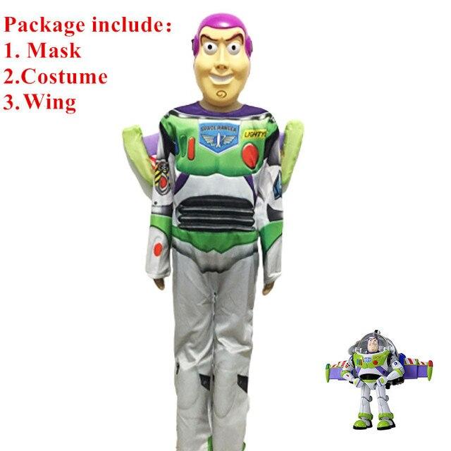 b75d9ff1f88b7 Alta calidad Toy Story Buzz Lightyear traje de Halloween para el Partido  Cosplay Carnaval para niños