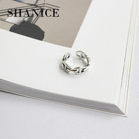 SHANICE Do The старый кольцо из стерлингового серебра 925 цепи открытие простой дизайн кольца корейский стиль ретро серебряные ювелирные изделия ...