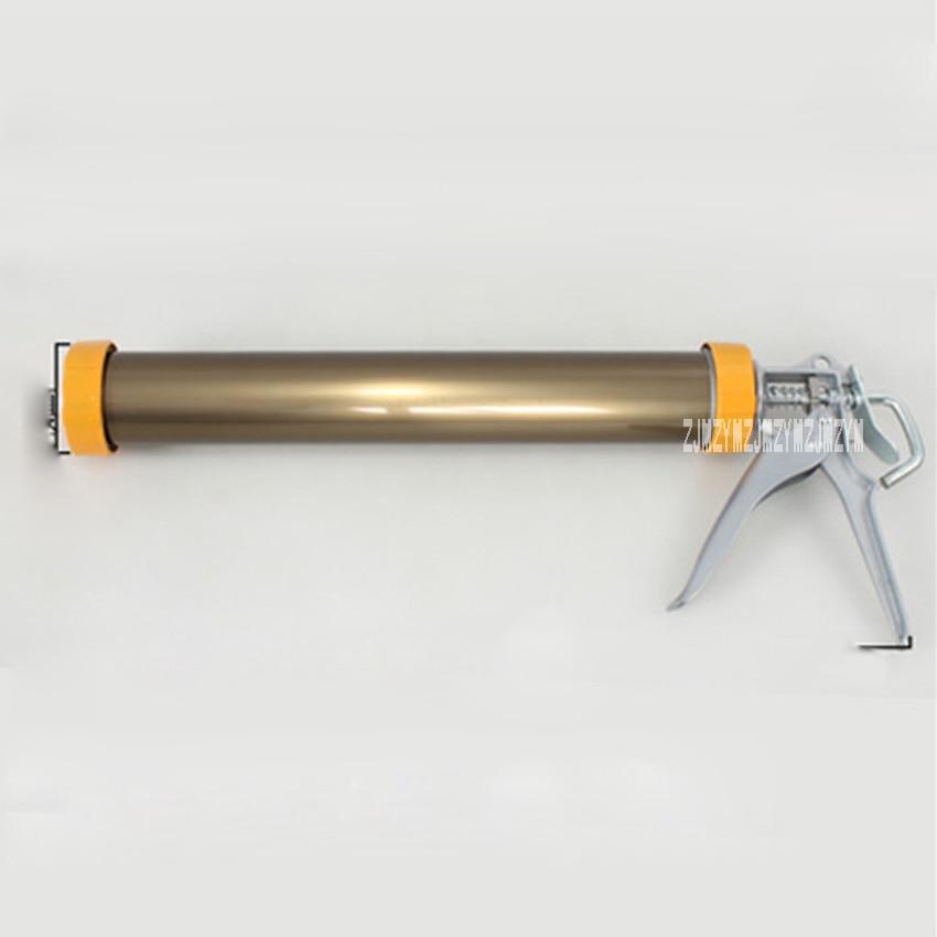 Deluxe Yellow Bronze Color Soft Glue Gun Aluminum Alloy Glue Gun Labor Saving Rotatable Structure Soft Glass Glue Gun Hot Sale