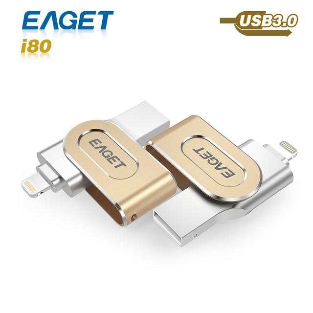 hot Eaget I80 pen drive 3.0 usb 3.0 MFI usb flash drive 32GB 64GB 128GB for iphone pendrive for ipad External Storage usb stick